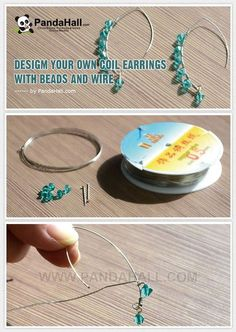 Jewelry Making Tutorial--Design Your Own Coil Earrings with Beads and Wire | PandaHall Beads Jewelry Blog