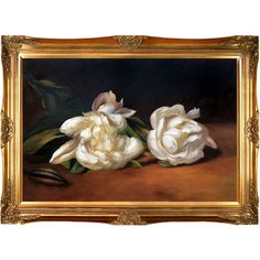 Features:Hand painted oil reproduction of a famous Manet painting, Branch Of White Peonies with Pruning Shears. Today the pai...