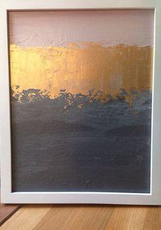 Auf Verkauf Abstract Painting 11 x 14 Gold von JenniferFlanniganart