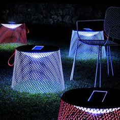 "EMU Ivy Pouf illuminating at night:  outdoor ottoman with a solar panel to illuminate beneath the pouf at night!            Average Rating (of 0 reviews):  Be the first to write a review  Product Code: EMU IVY POUF, CO2595  Specifications    Overall Diameter: 20 3/4""  Overall Height: 15 3/4""  ITALY / PAOLA NAVONE    The IVY Collection by Paola Navone is inspired by the ancient art of topiary, creating ""furniture-sculptures"" that a"