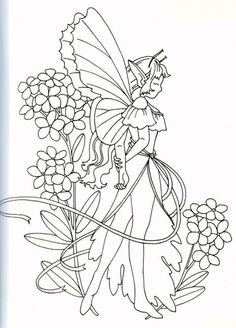 Fairy Coloring Pages, Adult Coloring Pages, Coloring Books, Coloring Sheets, Spanking Art, Secret Garden Colouring, Hand Embroidery Patterns, Embroidery Designs, Fantasy Life