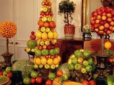 beautiful fruit topiaries