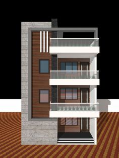 House Front Design, Modern House Design, House Elevation, Home Renovation, Krishna, Garage Doors, Mansions, House Styles, Outdoor Decor