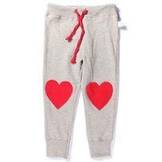 Minti Heart Knee Trackies Grey