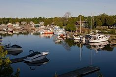 Tobermory, Ontario- stop in before reaching our sanctuary. This place is so beautiful and peaceful. Tobermory Ontario, Discover Canada, Lake Huron, Largest Countries, Great Lakes, Canada Travel, Nova Scotia, Day Trips, The Great Outdoors