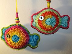 3-D Funny Fishies: crochet pattern for sale
