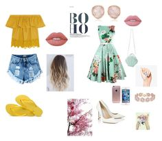 """""""Sassy"""" by aliza-ahmed on Polyvore featuring Madewell, Havaianas, Lime Crime, Jimmy Choo, BaubleBar and Monica Vinader"""