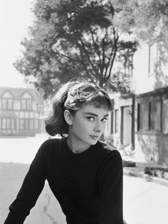Audrey Hepburn photographed by Mark Shaw in Los Angeles 1954.