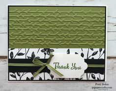 Elegant Thank You Card featuring the Petal Passion Suite from the 2018 Occasions catalog from Stampin Up. I used the Petal Pair Embossing Folder, Petal Passion DSP and Petal Palette Stamps.