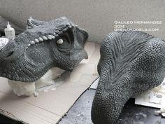 T rex bust scale Molding WIP by GalileoN on DeviantArt Jurassic Park Raptor, Jurassic Park World, Dinosaur Art, Dinosaur Fossils, Sculpture Clay, Sculptures, Zbrush Character, Extinct Animals, Prehistoric Creatures