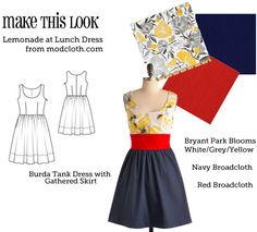 another modcloth knockoff - MTL: Lemonade at Lunch dress (by Mena on the Sew Weekly)