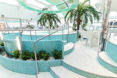 Sunflower Oasis kylpylä-osastossa nautit upeista merimaisemista. Silja Serenade.