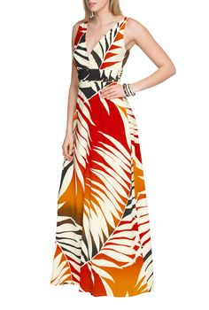 Paradise Print Maxi Dress