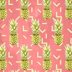 pineapple pattern Art Print by Grace   Society6