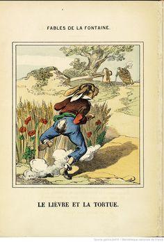 Fables de La Fontaine, n° 1 [-4], 1875  a lebre e a tartaruga