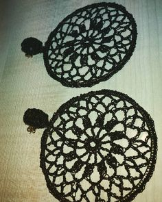 #earrings #crochet #diy #orecchini #fattoamano #uncinetto #uncinettomania #crochetlove #instacrochet by aniretac77