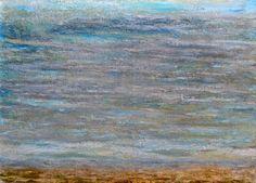 Ca0148 Óleo tela 70x50x2 cm  Tierra, agua y cielo