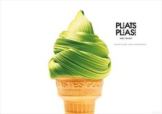 The Print Ad titled Anniversary, Ice Cream Cone was done by Taku Satoh Design, Japan advertising agency for product: Issey Miyake (brand: Issey Miyake) in Japan. It was released in the Apr 2013.