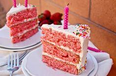 3 Layer Strawberry Cake with Creamy Vanilla Frosting-2