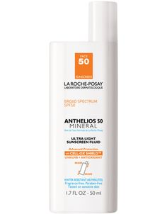 La Roche-Posay Anthelios Mineral 50 Ultra Light Sunscreen Fluid with Zinc Oxide  SPF 50 *, 34e