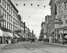 "Charleston, South Carolina, circa 1910. ""King Street, south."""