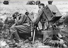 1941 - Wehrmacht radio operators at the forefront