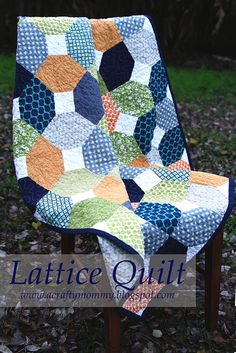 """This free quilt tutorial is for the """"Lattice Quilt"""".   Thanks to Stitched by Crystal for posting it."""
