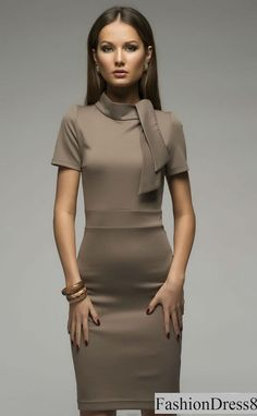 A perfectly simple and lovely dress.Dress for those who love simplicity and comfort.Simple cut ,interesting detail of the dress is the collar.Ties in the form of a tie ,the fabric is quite elastic ,allowing the dress perfectly fitted on the figure.Great dress for work ,for walks or adding aksesuar for gala parties.  Please measure yourself  *clothing is make for order.You may pick a size from the standard sizes below.  -Your bust- around the fullest part -Your natural waist - around the…