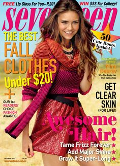 Nina Dobrev in fall colors on the October 2012 cover!
