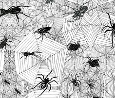 Creepy Crawlies fabric by linsart on Spoonflower - custom fabric