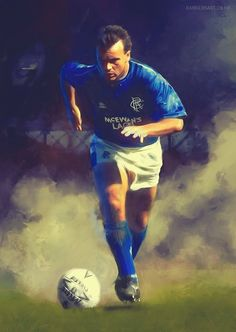 Davie Cooper of Rangers wallpaper. Rangers Football, Rangers Fc, Football Fashion, Glasgow, Sports, Stone Painting, Trainers, Bears, Legends