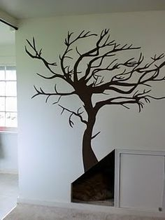 Handpainted tree mural: a great alternative to vinyl!  My daughter, Erin, did this one.