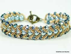 Make yourself a gorgeous looking bracelet with this easy to follow tutorial.  If you're new to beading, this weave is simple yet looks complicated.  I've made several bracelets using th…