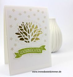 Wald der Worte, Weihnachtskarte (Stampin' Up! Anleitungen,Ideen,Produkte…