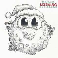Wishing you all a very Merry Christmas and happiest of holidays! Cute Monsters Drawings, Cartoon Monsters, Little Monsters, Cartoon Art, Monster Sketch, Doodle Monster, Monster Drawing, Pencil Art Drawings, Kawaii Drawings