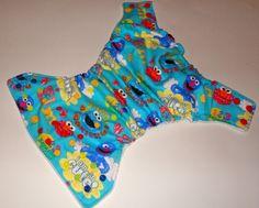 one sized Elmo cloth diaper
