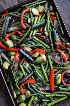 These Roasted Vegetables are the bestandeasiest way to prepare a huge variety of your favorites. Beautifully cooked to perfection and so full of flavor!