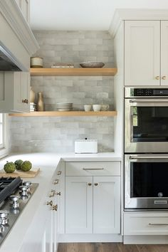 Nov 2019 - Kitchen shelves One of my favorite angles of this kitchen Kitchen shelves are custom and made out of Oak Kitchen shelves White Oak Kitchen shelves Floating shelves Timeless Kitchen, Home Decor Kitchen, White Oak Kitchen, Home Kitchens, Home Remodeling, Kitchen Design, Kitchen Remodel, Kitchen Renovation, Kitchen Cabinetry