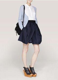 【CARVEN】在庫少なめ★コットンポプリンボリュームスカート