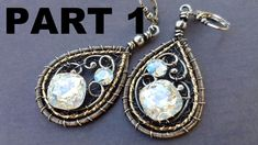 Wire Wrapping Tutorial - New Years Earrings Part In this Wire Wrapping Tutorial, I will show you step by step how to make these glorious and flashy holiday earrings! Broken into 3 parts, so you can watch as you need, to create your own one of a kind Wire Jewelry Earrings, Wire Wrapped Earrings, Wire Wrapped Pendant, Wire Jewellery, Crystal Earrings, Jewelry Art, Jewlery, Fashion Jewelry, Custom Jewelry