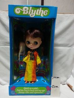1972 Vintage Kenner Blythe with Box Brown Hair Doll Made in HK JAPAN 1091 #Blythe