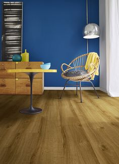 No need to shy away from decorating with standout colors this summer! With our Floorcraft IVC LVT floors as the foundation, add a royal blue accent wall to make your decor seaside ready!