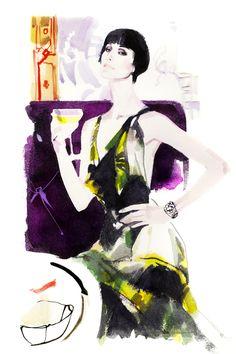 Modeconnect.com - fashion illustration by David Downton