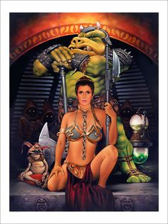 Star Wars: Jestor's Court - Slave Leia by Dave Nestler Star Wars Film, Star Wars Fan Art, Star Wars Poster, Leia Star Wars, Star Wars Princess Leia, Star Trek, Princesa Leia, Images Star Wars, Star Wars Pictures