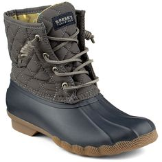 Women's Saltwater Quilted Duck Boot in Graphite by Sperry #$100-to-$200