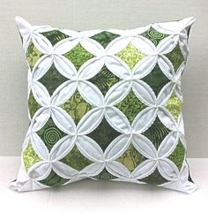 Cathedral Window Quilted Pillow