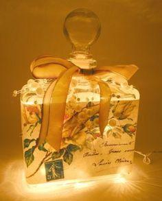 #3 Yellow Roses Perfume Bottle Nightlight ( Night Light )