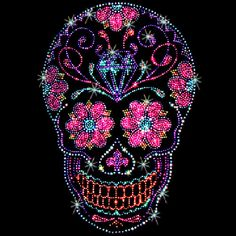 Hey, I found this really awesome Etsy listing at https://www.etsy.com/listing/199893631/rhinestone-and-studs-day-of-the-dead