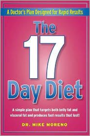 17 Day Diet..so far so good.  Will be finishing first cycle this Wednesday. Lost  8 lbs so far :)