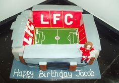 The best LFC themed cake I've ever seen! Birthday Cakes, Birthday Ideas, Happy Birthday, Liverpool Fc, Themed Cakes, Cake Ideas, Cupcake Cakes, Birthdays, Soccer
